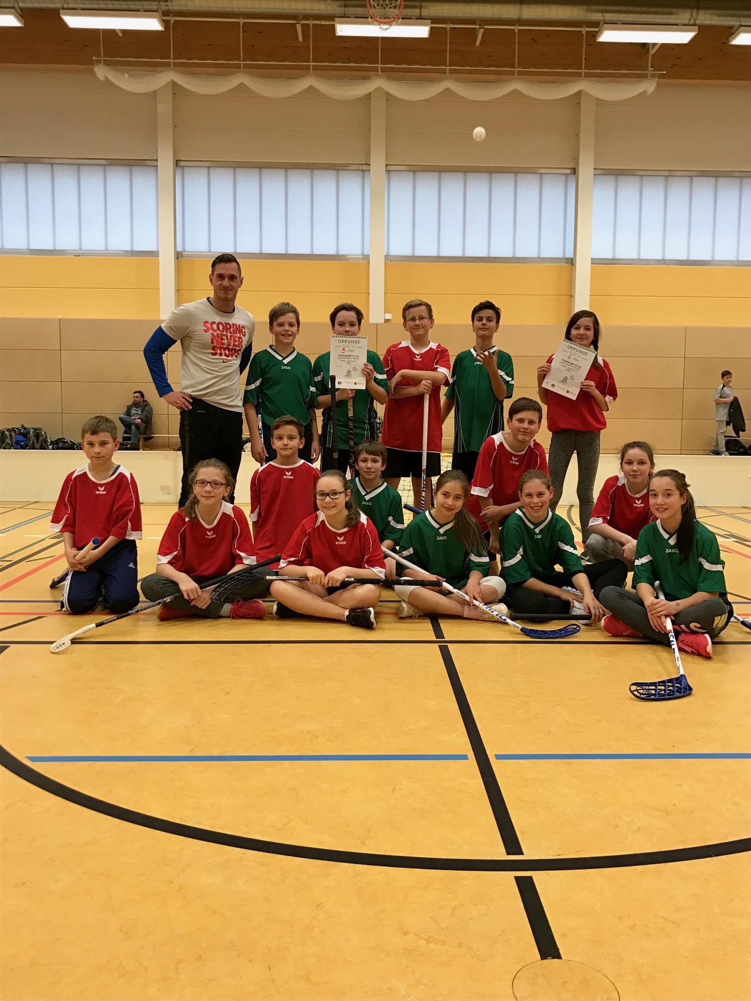AG Floorball von der Stadtmeisterschaft